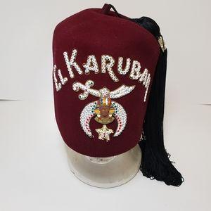 Vtg Masonic Shriner Tassel Hat